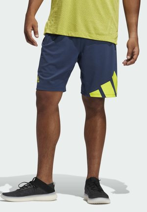 4K 3 BAR DESIGNED4TRAINING PRIMEGREEN SHORTS - Sports shorts - blue