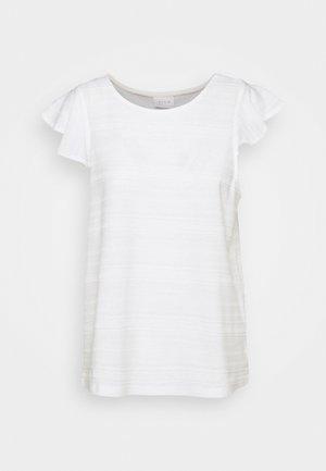 VIFLINT CAPSLEEVE - Print T-shirt - cloud dancer