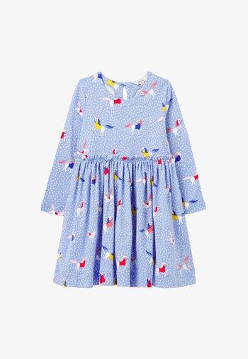 Day dress - blau geblümt