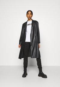 G-Star - HIGH G-SHAPE CARGO SKINNY PANT - Cargo trousers - dk black gd - 1