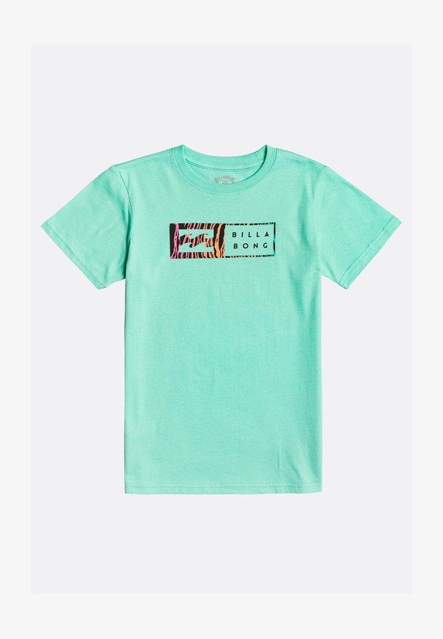 INVERSED  - T-shirt print - light aqua