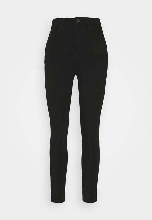 SCULPT ANKLE PANT - Spodnie materiałowe - black
