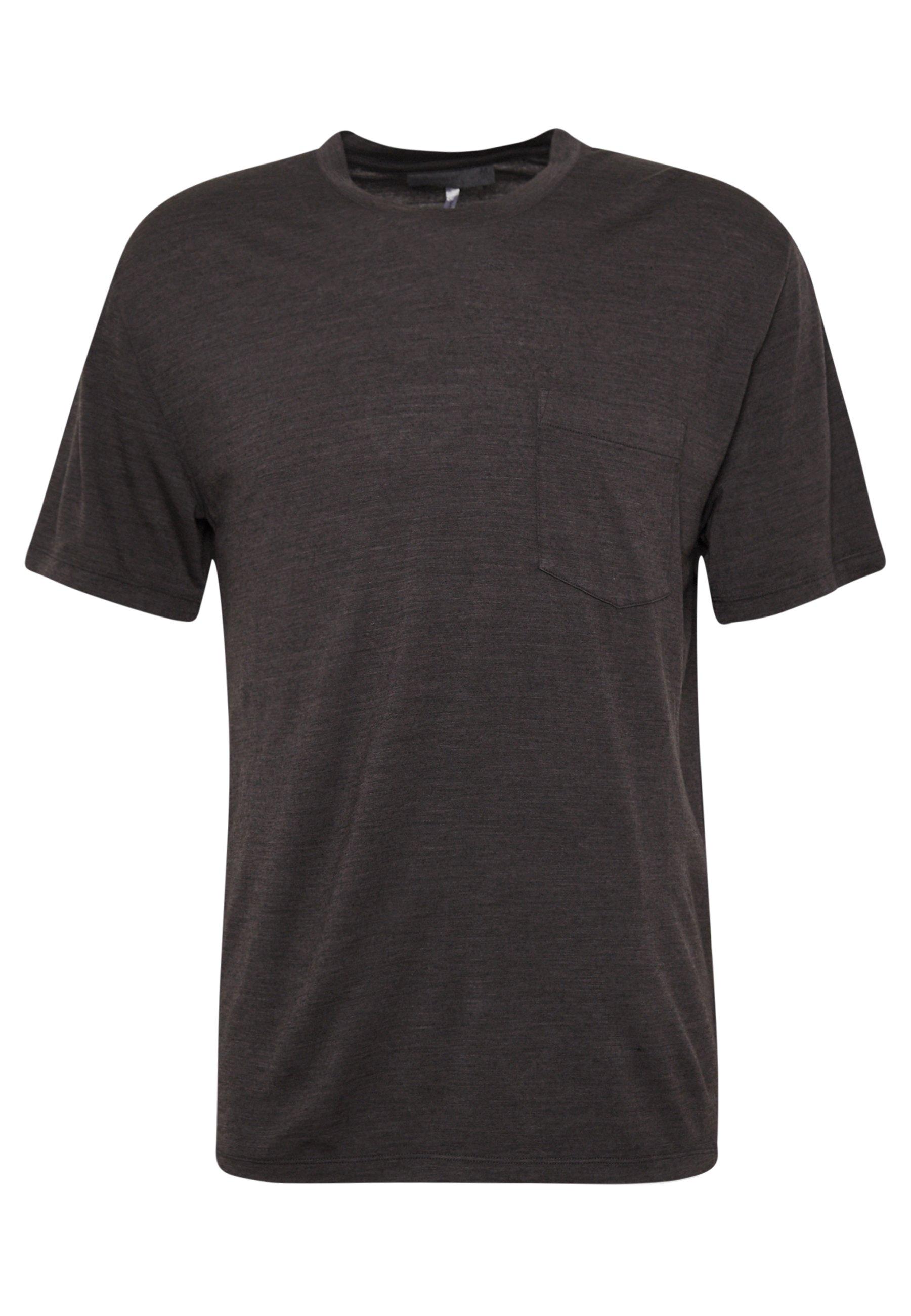 Icebreaker NATURE DYE DRAYDEN POCKET CREWE - T-shirt basique - tannin