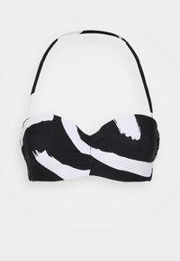NEW WAVE BUSTIER BANDEAU - Bikini top - black