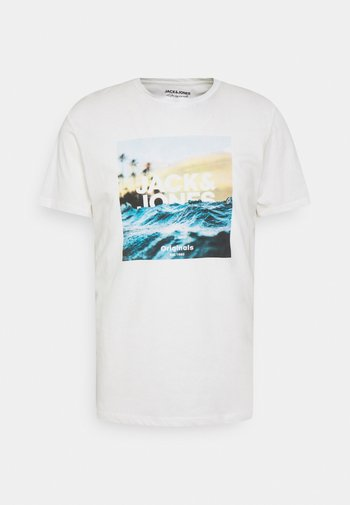 JORAZURE TEE CREW NECK - Print T-shirt - cloud dancer