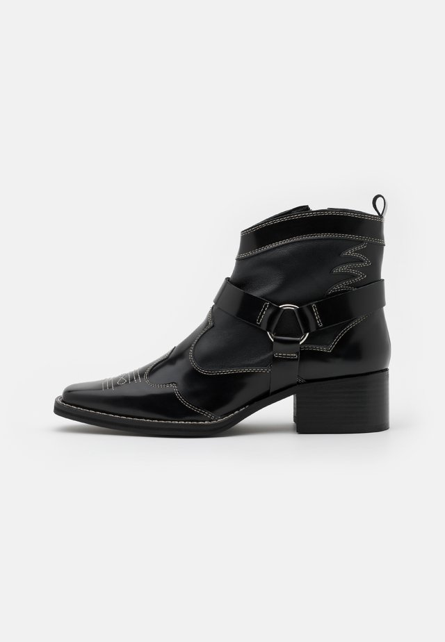 MADISON - Stivaletti texani / biker - black