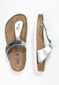 Birkenstock - GIZEH - T-bar sandals - metallic silver - 2