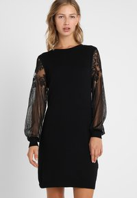 ONLY - ONLVIKTORIA DRESS - Vestido de punto - black - 0