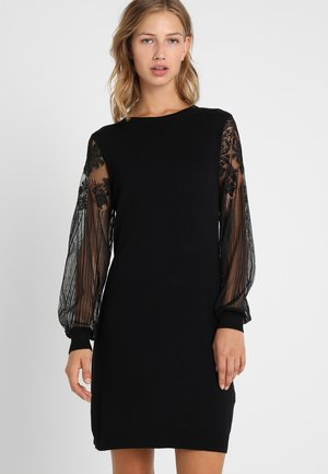 ONLVIKTORIA DRESS - Strikket kjole - black