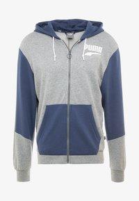 Puma - REBEL BLOCK HOODY - Mikina na zip - medium gray heather - 4