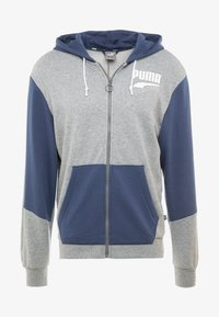 REBEL BLOCK HOODY - Sudadera con cremallera - medium gray heather