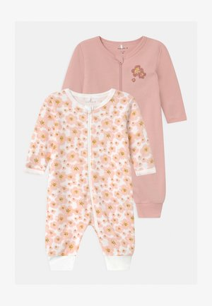 NBFNIGHTSUIT ZIP 2 PACK - Pyjamas - silver pink