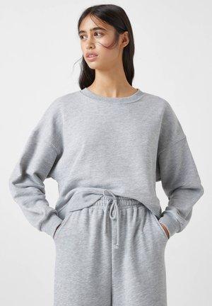 MIT BREITEM PATENTMUSTER - Bluza - grey
