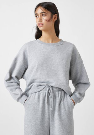 MIT BREITEM PATENTMUSTER - Sweatshirts - grey