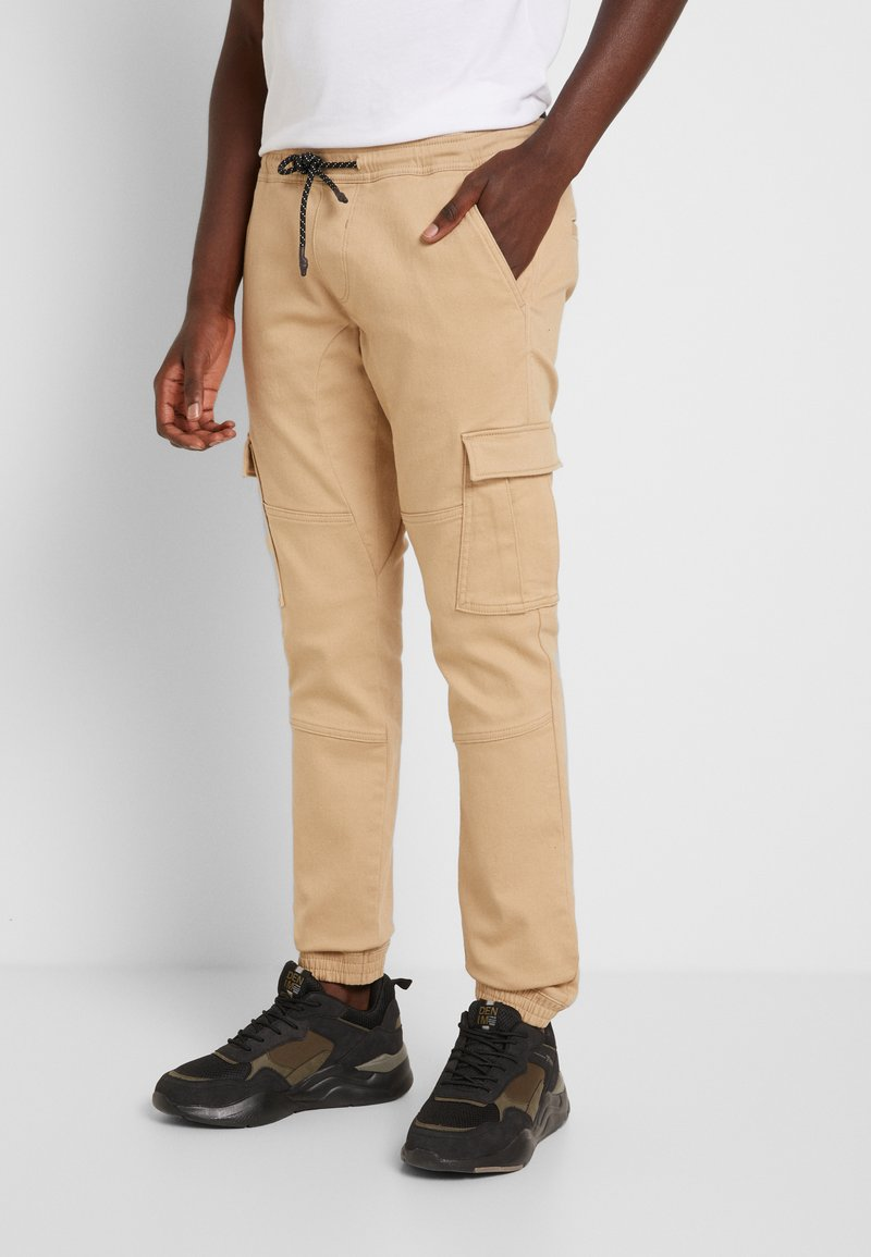 TOM TAILOR DENIM - Cargo trousers - smoked beige