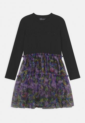 DRESS STRASS BAROCCOFLAGE - Jersey dress - nero/multicolor