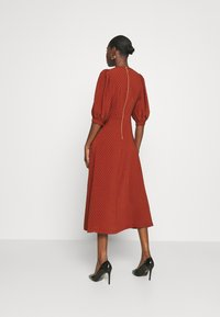 Closet - MIDI GATHERED NECK DRESS - Day dress - rust - 2