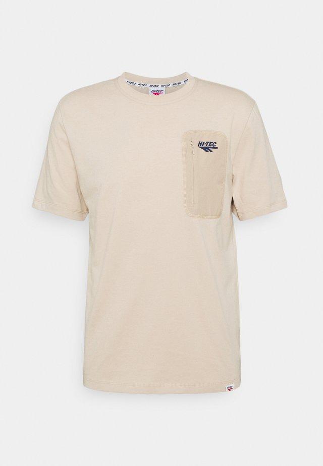 AMOS - T-shirt basique - humus