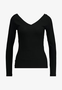 ONLY - ONLMOLLY V NECK - Long sleeved top - black - 4