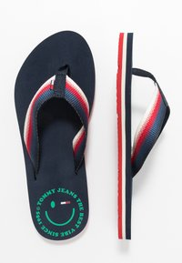 Tommy Jeans - SUSTAINABLE BEACH - Sandalias de dedo - twilight navy