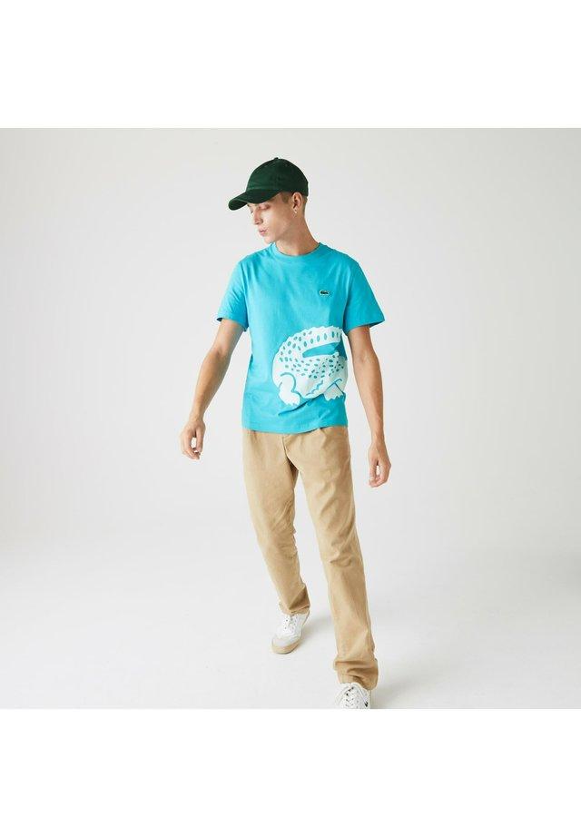 TH5139 - T-shirt imprimé - turquoise