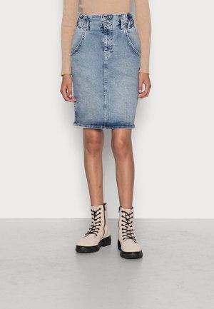 ONLMILLIE WAISTBAND - Denim skirt - medium blue denim
