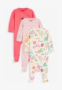 Next - 3 PACK LADYBIRD STRIPE - Sleep suit - pink - 0