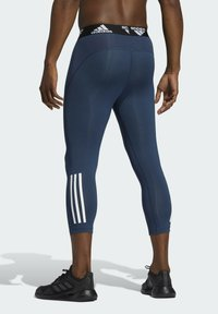 adidas Performance - TECHFIT 3/4 3-STRIPES TIGHTS - Leggings - blue - 2