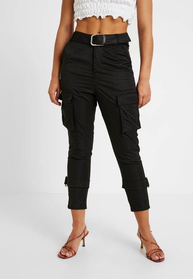 SCRIPT TROUSER - Pantalones - black