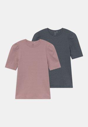NKFLARA 2 PACK - Print T-shirt - dark sapphire