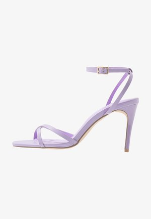 SAFIRA STRIPPY DRENCH ENAMEL - High heeled sandals - lilac