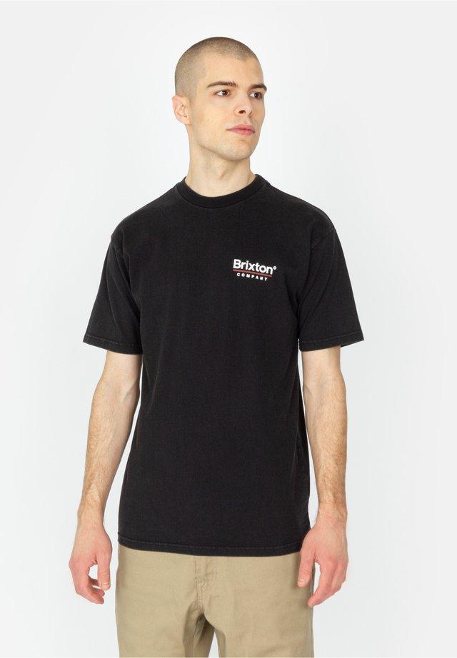 PALMER LINE - T-shirt print - worn wash black
