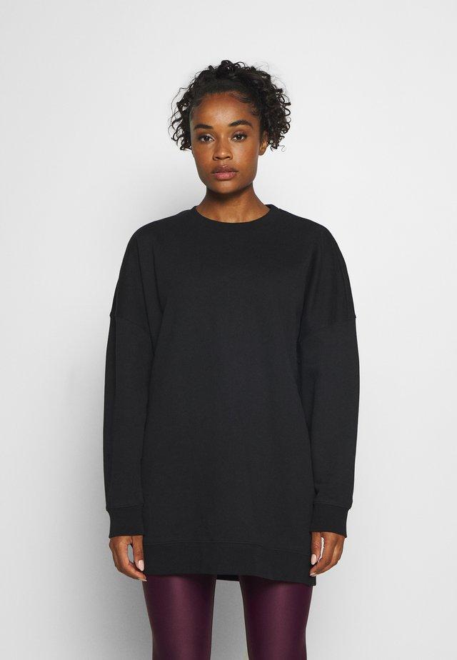 MALVA OVERSIZED CREW - Sweatshirt - black beauty