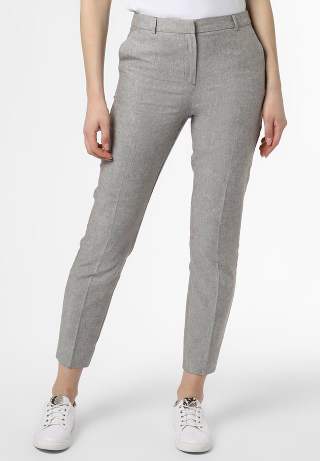 Trousers - taupe weiß