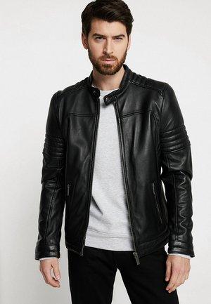 DAVIS - Veste en cuir - black