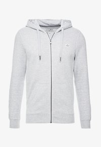 TOM TAILOR DENIM - HOODIE JACKET - Zip-up hoodie - light stone grey melange - 3