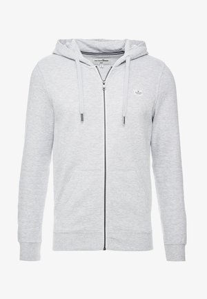 HOODIE JACKET - Sweatjacke - light stone grey melange