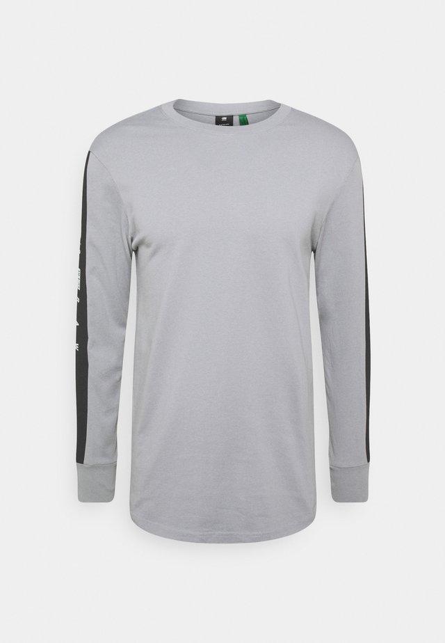 RAW SLEEVE LOGO - Long sleeved top - steel grey