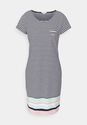 HAREWOOD STRIPE DRESS - Jersey dress - navy