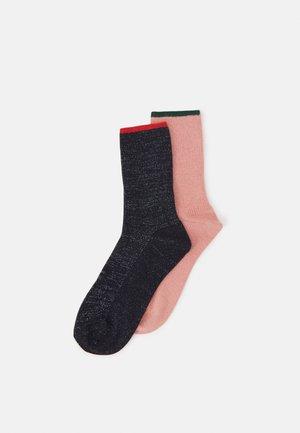 MARIONA 2 PACK - Socks - dark blue/light pink