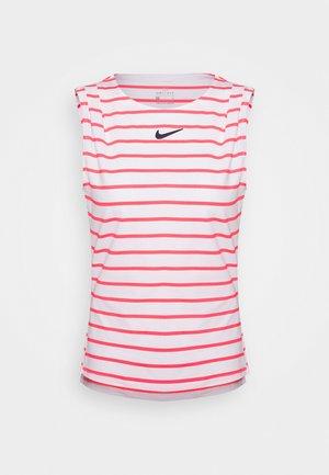 MARIA DRY TANK - Camiseta de deporte - white/laser crimson/blackened blue