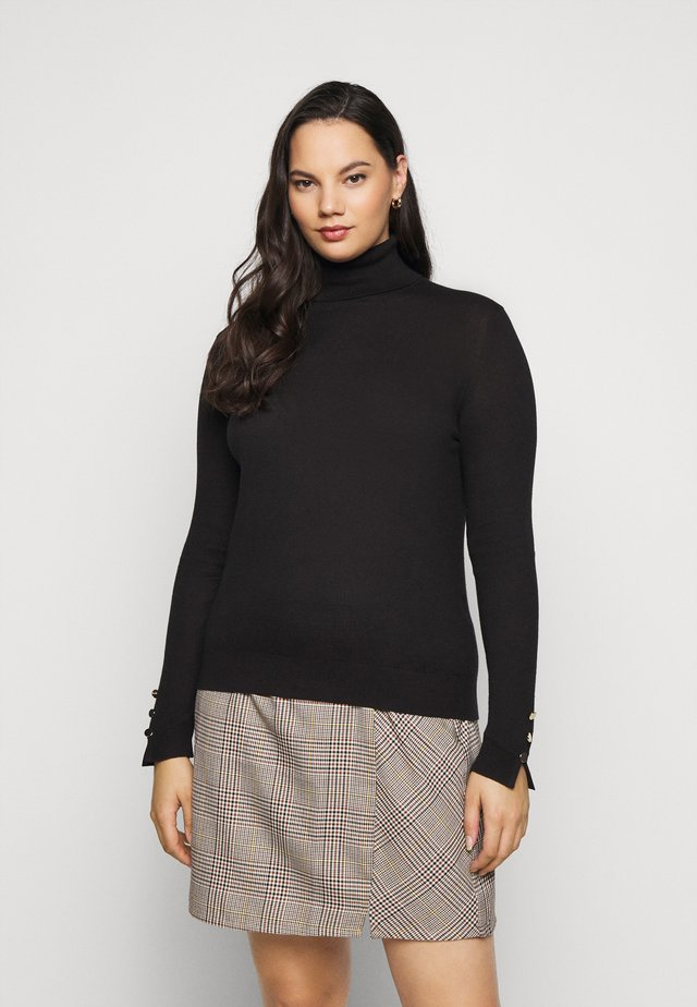 VMMILDA ROLLNECK BUTTON SLIT - Pullover - black