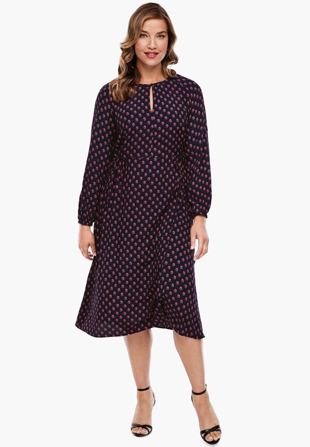 MIT ORNAMENTALEM MUSTER - Day dress - navy aop