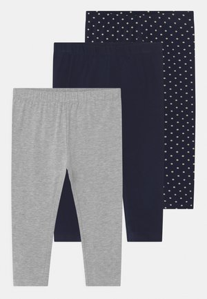 SMALL GIRLS  3 PACK - Leggings - Trousers - dress blues