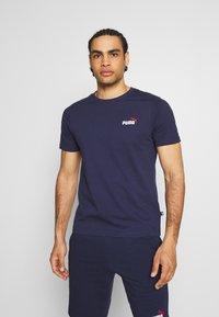 Puma - EMBROIDERY LOGO TEE - T-shirt basique - peacoat - 0
