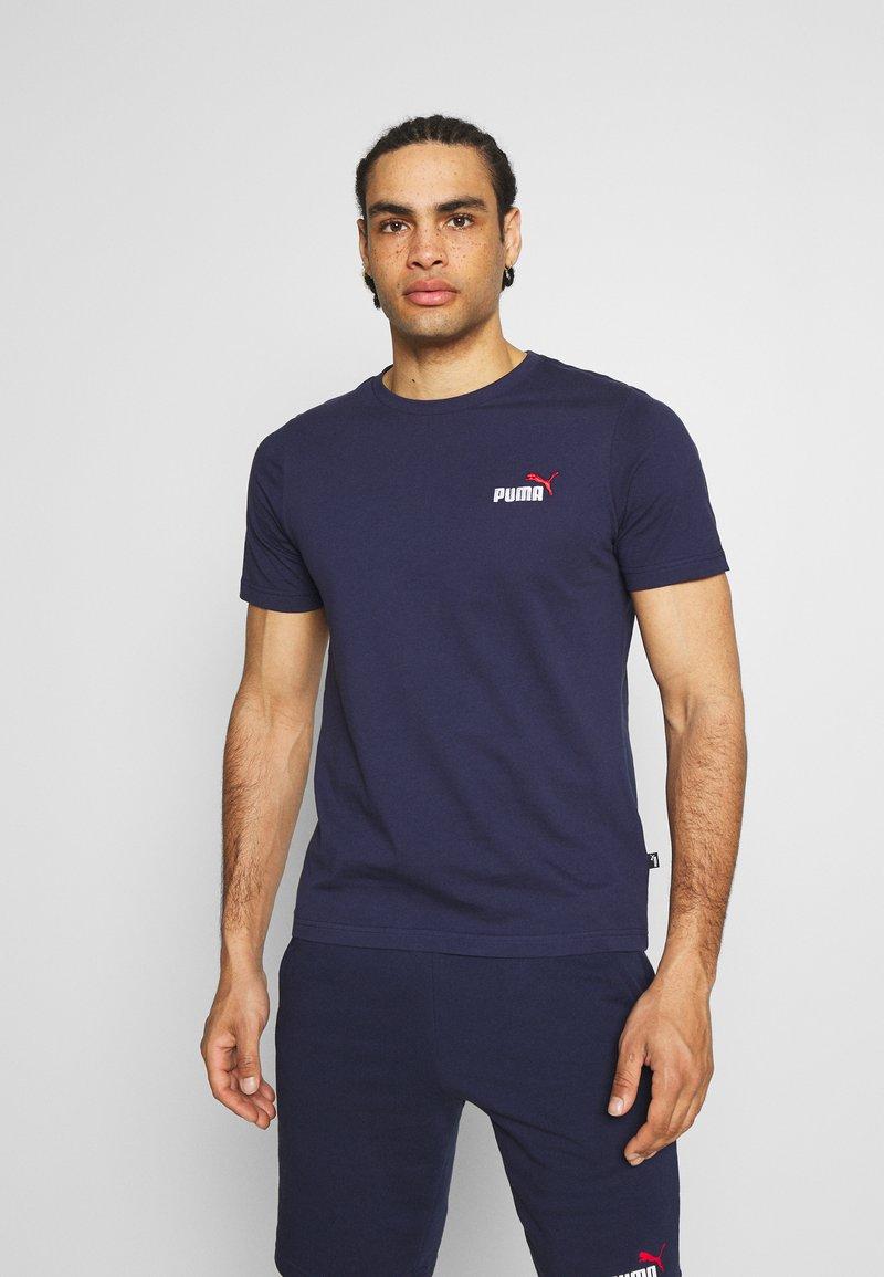 Puma - EMBROIDERY LOGO TEE - T-shirt basique - peacoat