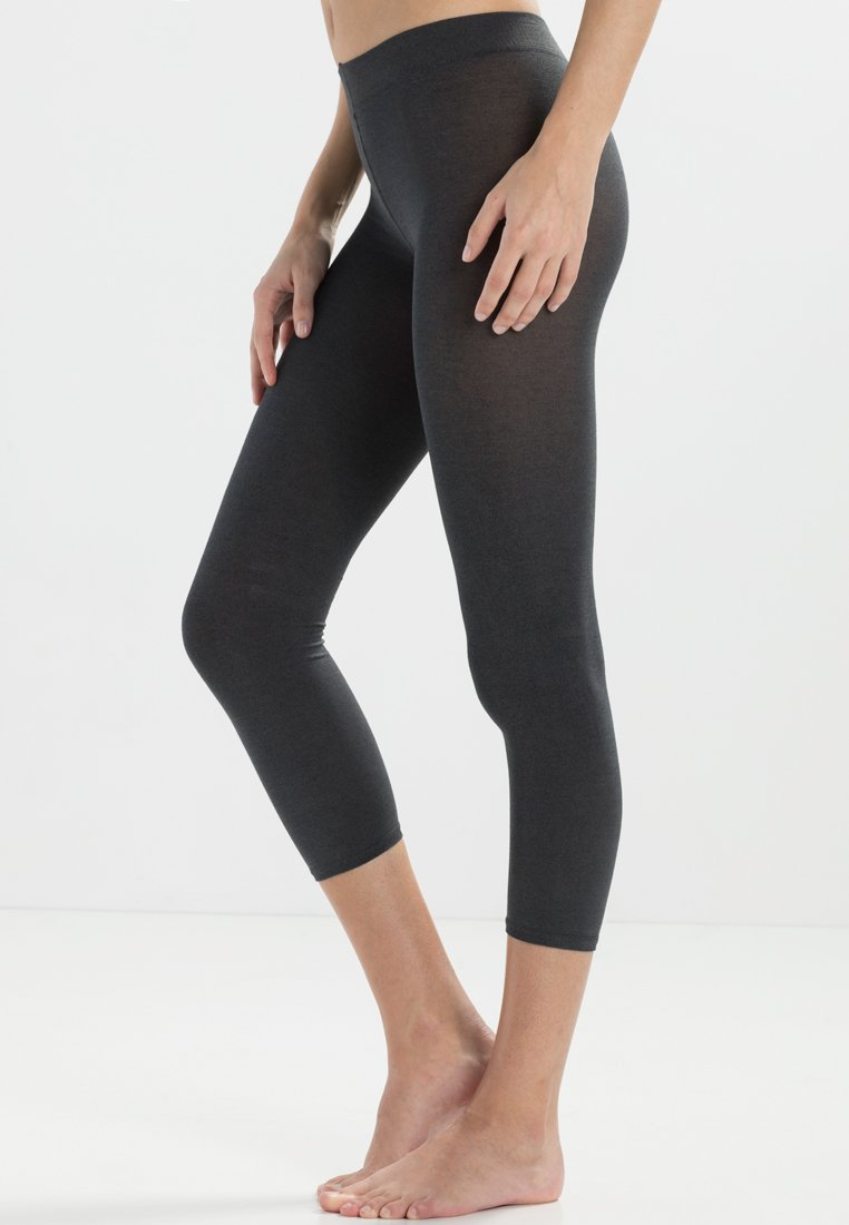 FALKE - FALKE COTTON TOUCH LEGGINGS BLICKDICHT GLATT - Leggings - Stockings - grigio