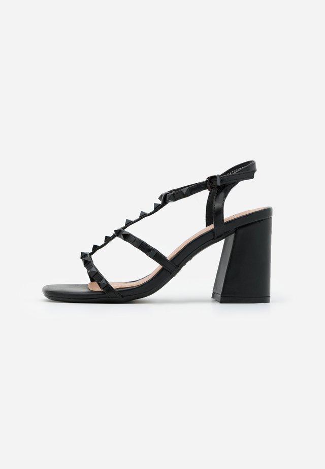 STAFFY - Sandalias de tacón - black