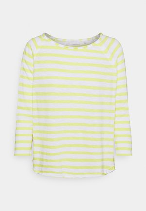 HEAVY STRIPED - Long sleeved top - lemonade