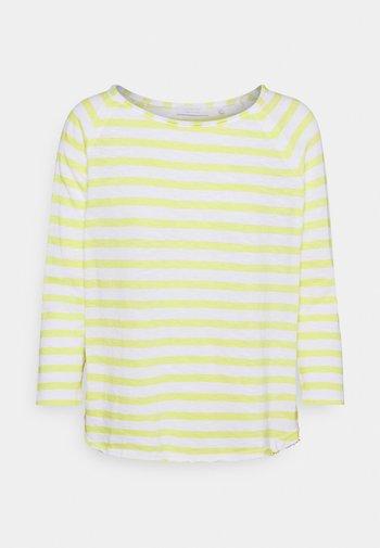 HEAVY STRIPED - Long sleeved top - lemonade